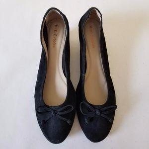 Hush Puppies Women Black Wedge Sandals Shoes